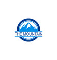 round mountain logo vector image