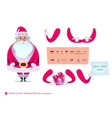 santa claus character for scenesp vector image vector image