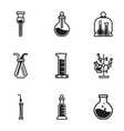 science chemical glass icon set simple style vector image vector image