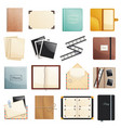 scrapbook notepad diary collection vector image
