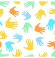 seamless pattern from hands vector image vector image