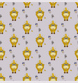 seamless pattern with new years pattern with a vector image vector image