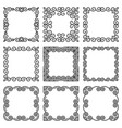 set square frames in oriental style beautiful vector image