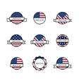 set stamps with usa flags vector image vector image