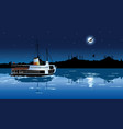 silhouette of istanbul in the moonlight vector image