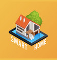 smart home isometric composition poster vector image vector image