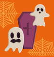 trick or treat - happy halloween vector image vector image