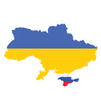 Ukraine map Flag vector image vector image