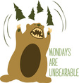 Unbearable vector image vector image