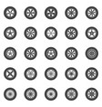 wheels icons set collection of car wheel vector image vector image