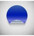 Round blue sticker vector image