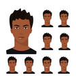 african-american man with different emotions vector image