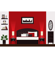 Modern bedroom vector image