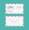 flat style of postal envelope vector image