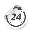 24 hours sticker label vector image vector image