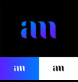 a and m monogram original blue symbol vector image vector image
