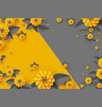abstract paper cut flowers vector image