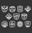 auto service or car repair monochrome icons vector image vector image