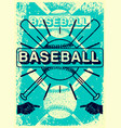 baseball typography vintage grunge style poster vector image vector image