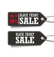 black friday sale up to 90 tags set isolated on a vector image vector image