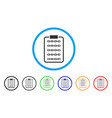 blockchain list page rounded icon vector image vector image