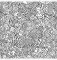 cartoon cute doodles hand drawn native american vector image vector image