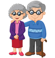Cartoon elderly couple isolated on white backg vector image vector image
