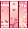 cherry blossom banners vector image vector image