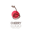 cherry logo design creative template for cafe vector image vector image