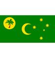 cocos keeling islands flag vector image vector image