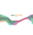 colorful header website abstract design vector image vector image