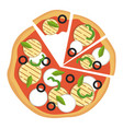 colorful vegetarian pizzaprint vector image vector image