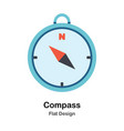compass flat vector image vector image