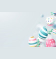 composition 3d easter eggs vector image