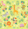 cute tropical pattern vector image vector image