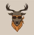 deer head eyeglasses vector image