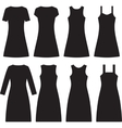 Different women dresses vector image
