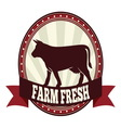 Farm fresh beef resize vector image