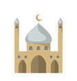 flat icon of the mosque vector image vector image