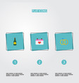 flat icons calendar engagement fizz and other vector image vector image