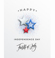 fourth july celebration banner greeting card vector image