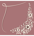 frame floral decorative ornament vector image vector image