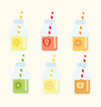 fruit lemonad set vector image vector image