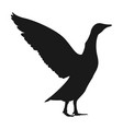 goose silhouette simple modern icon design vector image vector image