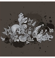grunge skull design vector image