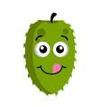 happy soursop emoticon vector image vector image
