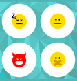 icon flat expression set of silent sleeping vector image