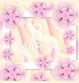 international women s day greeting card modern vector image