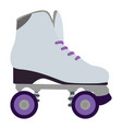 isolated roller skate vector image