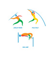 Javelin Throw Pole Vault High Jump Icon vector image